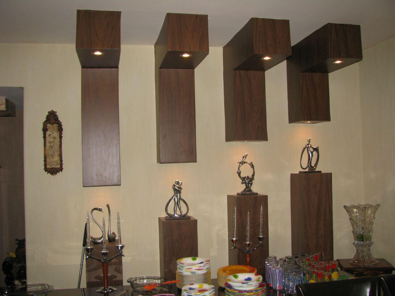نمونه کار دکوراسیون طرح چوب روی دیوار